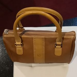 Fendi Vintage Small Leather Trim Handbag